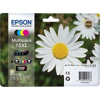 Epson T1811 Daisy XL Ink Cartridges, Multipack