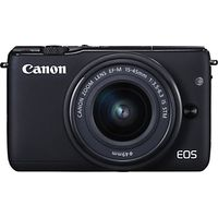 Canon EOS M10 Compact System Camera with EF-M 15-45mm f/3.5-6.3 IS STM Wide Angle Zoom Lens, HD 1080p, 18MP, NFC, Wi-Fi, 3 Touch Screen