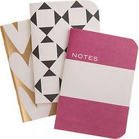 Caroline Gardner Hearts Notebooks, Set of 3