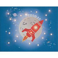 Illuminated Canvas - Personalised Rocket Canvas, 60 x 40cm