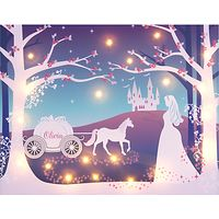 Illuminated Canvas - Personalised Cinderella LED Canvas, 60 x 40cm