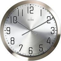 Acctim Alvik XL Wall Clock, Silver, 50cm