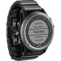 Garmin Fenix 3 Sapphire GPS Multisport Watch, Black
