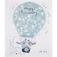 Woodmansterne Two Birds In A Hot Air Balloon Anniversary Card