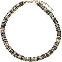 John Lewis Multi Rings Necklace, Gold/Multi