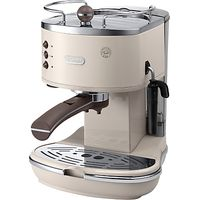 DeLonghi ECOV311.BG Vintage Icona Espresso Coffee Machine, Cream