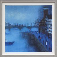 Emma Brownjohn - Bridges in the Mist Framed Print, 50 x 50cm