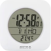 Acctim Bathroom Clock Wall Clock, White