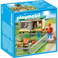 Playmobil Country Rabbit Pen With Hutch