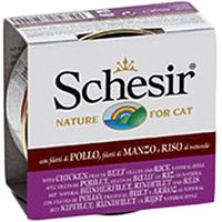Schesir Natural with Rice Saver Pack 24 x 85g - Pure Tuna & Beef with Rice