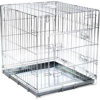 Double Door Transport Cage - Size L: 89 x 60 x 66 cm (L x W x H)