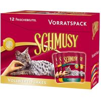 Schmusy Nature Whole Food Flakes Mixed Trial Pack 12 x 100g - 4 Varieties
