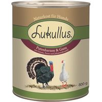 Lukullus Goose & Turkey Heart - 6 x 400g
