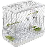 Hagen Vision Bird Cage for Medium Birds (M01) - White: 61 x 38 x 52 cm (L x W x H)