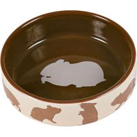Trixie Ceramic Food Bowl for Small Pets - Rabbit 250ml, Diameter 11cm
