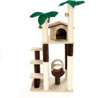 Coco Palm Cat Tree - Brown / Beige