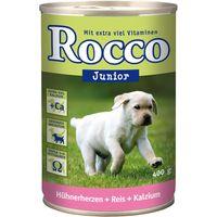 Rocco Junior 6 x 400g - Turkey, Veal Hearts & Calcium