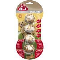 8in1 Delights Meaty Chewy Balls - Saver Pack: 3 x S (4 balls, 36g)
