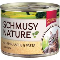 Schmusy Nature Cans 6 x 190g - Chicken, Salmon & Pasta