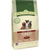 James Wellbeloved Adult Small Breed - Turkey & Rice - 1.5kg