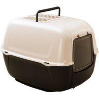 Ferplast Prima Litter Box - Black & Cream