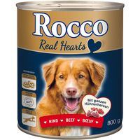 Rocco Real Hearts 6 x 800g - Chicken with whole Chicken Hearts