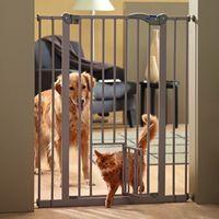 Savic Dog Barrier 2 with Cat Door - Height 107cm, 7cm extension