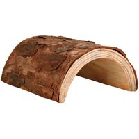 Natural Wood Tunnel - Size M: 20 x 17 x 7.5 cm (L x W x H)