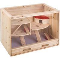 Loft Wooden Cage - 80 x 50 x 60 cm (L x W x H)