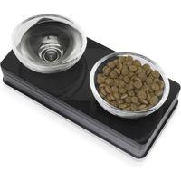 Catit Design Glass Diner Bowls - Black - 2 x 0.2 litre