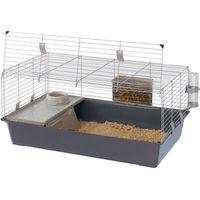 Ferplast Rabbit and Guinea Pig Cage 100 - Grey: 95 x 57 x 46 cm (L x W x H)