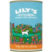 Lilys Kitchen Fishy Fish Pie with Peas for Dogs - 6 x 400g