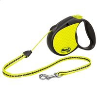 flexi Neon Reflect Dog Lead - Small - Neon