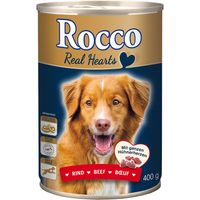 Rocco Real Hearts 6 x 400g - Chicken with whole Chicken Hearts