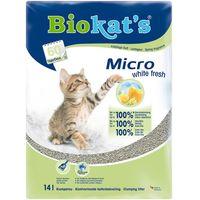 Biokats Micro White Fresh Cat Litter - Economy Pack: 2 x 14l