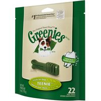 Greenies Canine Dental Chews - Teenie (170g / 22 treats)