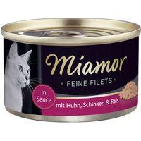 Miamor Fine Fillets 6 x 100g - Tuna & Quail Eggs in Jelly