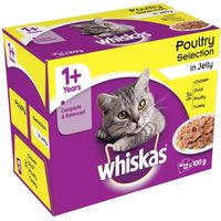 Whiskas 1+ Poultry Selection in Jelly - 12 x 100g