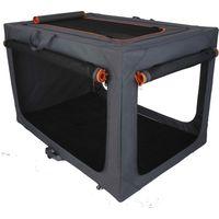 Deluxe Aluminium Folding Nylon Crate - Size M: 76 x 51 x 48 cm (L x W x H)