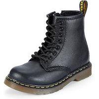 Dr Martens 8175 Lace-Up Zip Kids Leather Boots, Black, Size 11