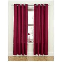Canvas Lightweight Eyelet Unlined Curtains