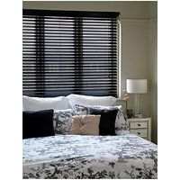 Made To Measure 50 Mm Wooden Venetian Blinds - Black
