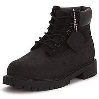 Timberland 6 Inch Premium Classic Boots, Black, Size 3 Older