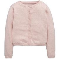 V by Very Girls Essential Cardigan, Pink, Size Age: 13-14 Years, Women