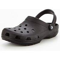 Crocs Classic Clog, Black, Size 10, Men