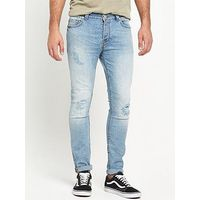 ONLY & SONS Only and Sons Loom Skinny Ri, Light Blue, Size 36, Length Regular, Men
