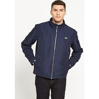 Lacoste Sportswear Hooded Jacket, Navy, Size 7, Men