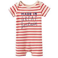 Joules Jersey Shortleg Babygrow, Red, Size 0-3 Months