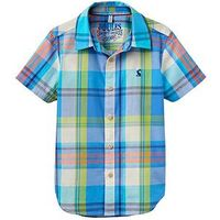 Boys, Joules Ss Check Shirt, Multi, Size 7 Years