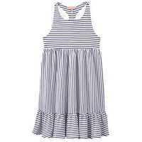 Joules Girls Midi Stripe Dress, Blue Stripe, Size 11-12 Years, Women